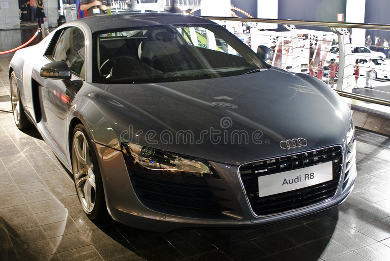 Audi R8 - Voorzijde - MPU stock afbeeldingen