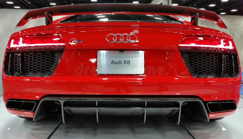Audi Red R8 stock photography