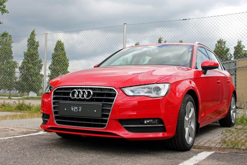 Audi rojo A3 imágenes de archivo libres de regalías