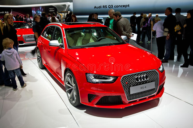 Download Audi RS 4 car editorial stock photo. Image of moscow - 27239758