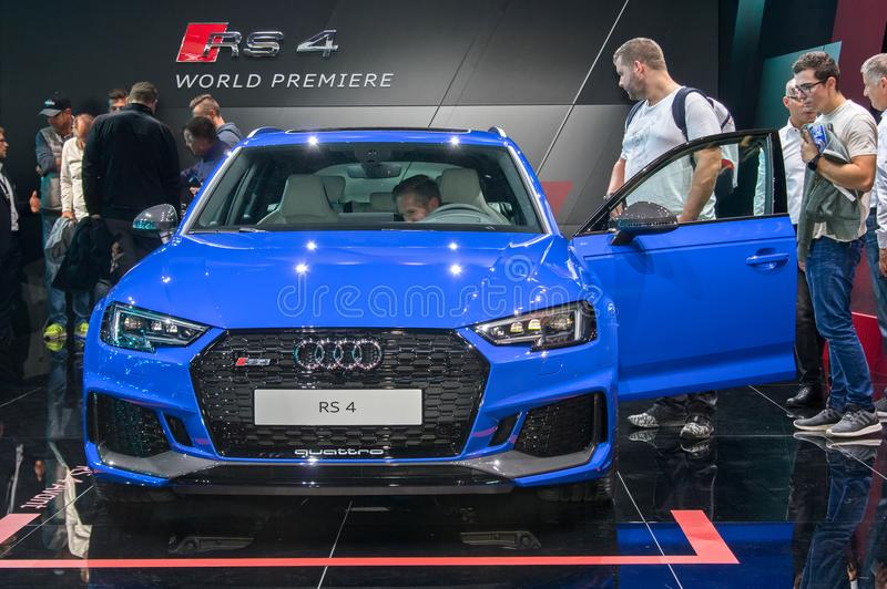 Audi RS4 avant στοκ φωτογραφίες