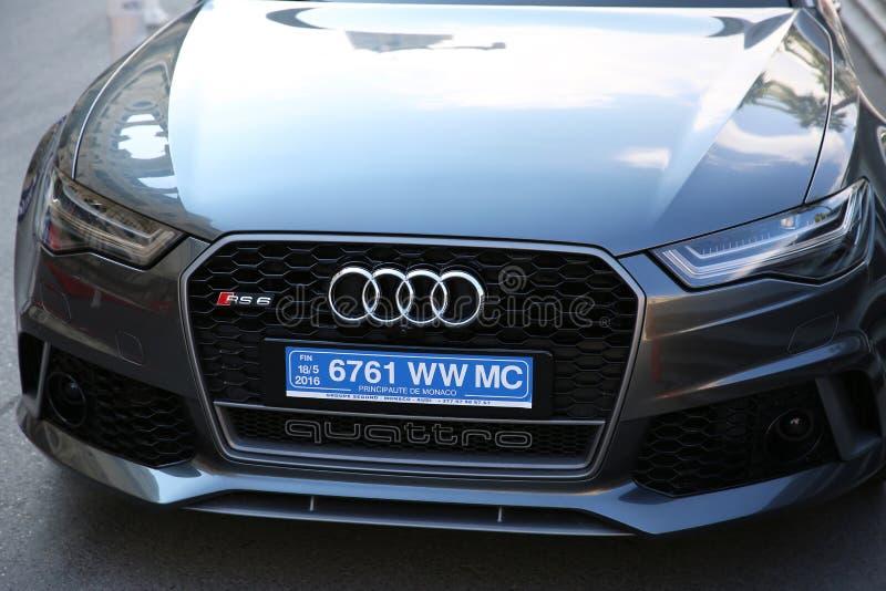 Audi RS 6 Quattro en Mónaco fotografía de archivo libre de regalías