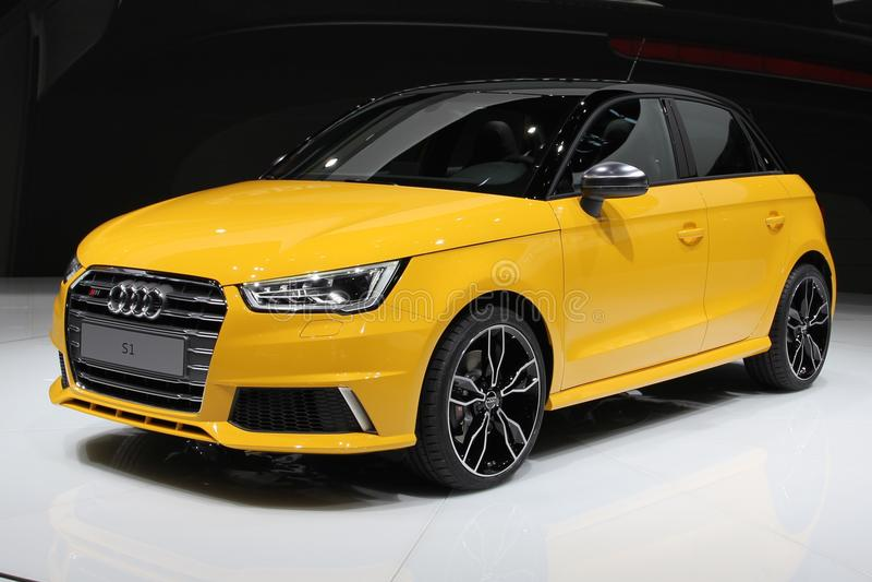 2014 Audi S1 στο αυτόματο σαλόνι της Γενεύης στοκ φωτογραφία