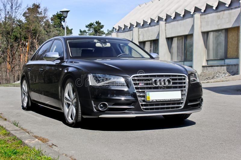 Kiev, Ukraine; April 10, 2014. Audi S8 on the building background. Audi S8 on the building background stock photo