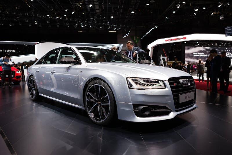 Audi S8 in Geneva stock images