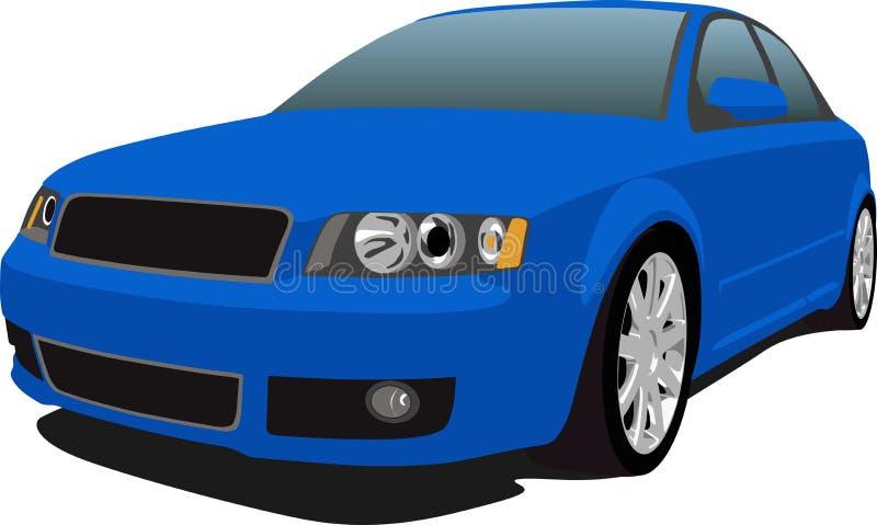 Audi S4 Blue stock illustration