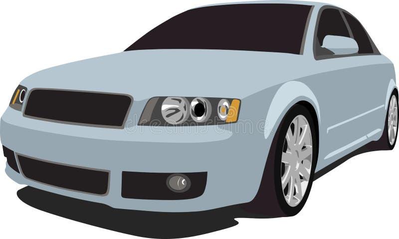 Audi S4 in Silver vector illustration