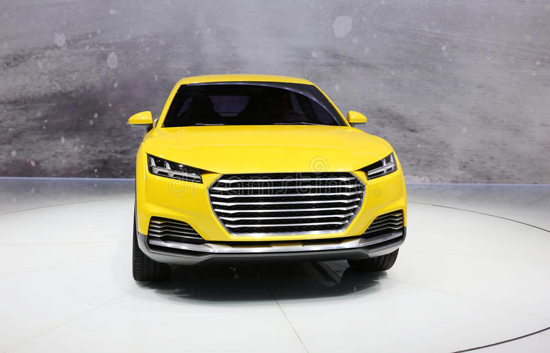 Audi Suv. View of a yellow Audi suv stock image