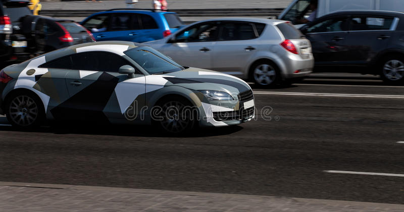 Audi TT in the city stock images