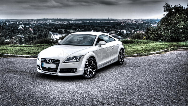 Audi TT. HDR shot of Audi TT royalty free stock image