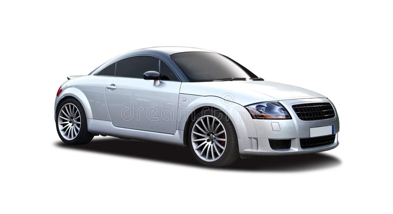 Audi TT. Isolated on white royalty free stock photo