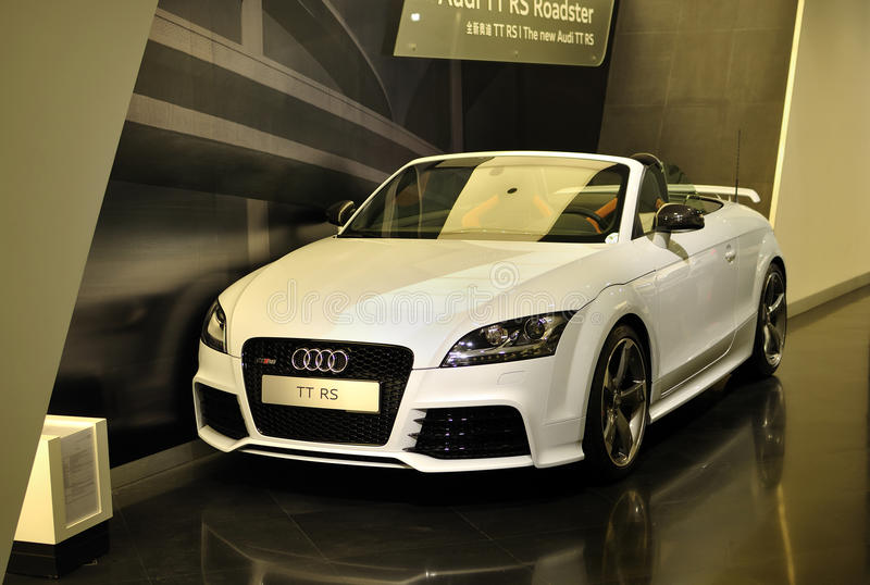 Audi TT rs. In the Beijing Audi Showroom stock image