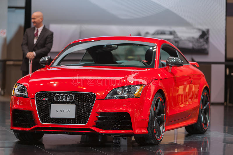 Audi TT RS 2013 Chicago Auto Show royalty free stock photo