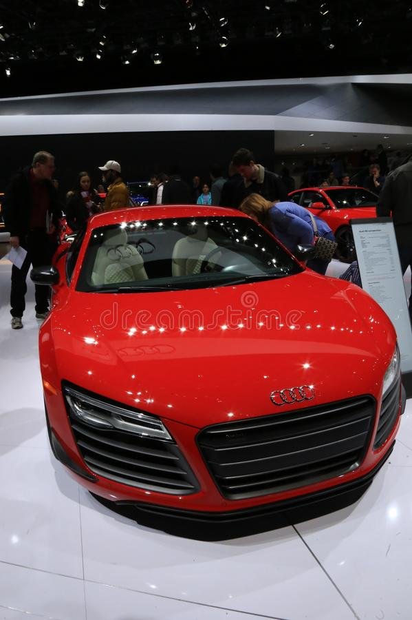 Audi vehicle at the auto show royalty free stock photography