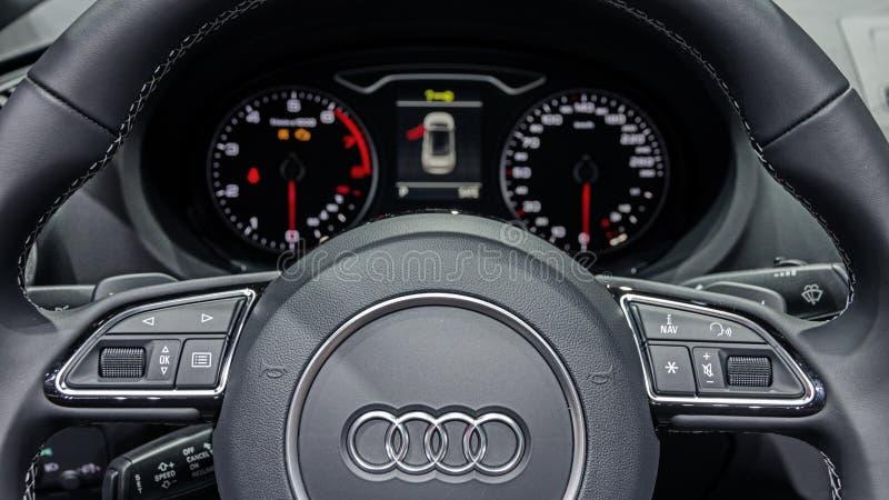 Audi A3 wnętrza samochód obrazy stock