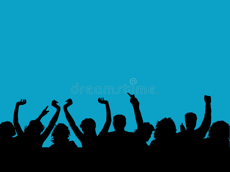 Download Audience stock vector. Image of audience, silhouette, illustration - 562975