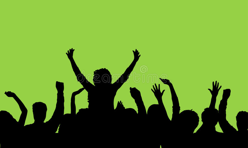 Download Audience stock vector. Image of design, performer, party - 602715