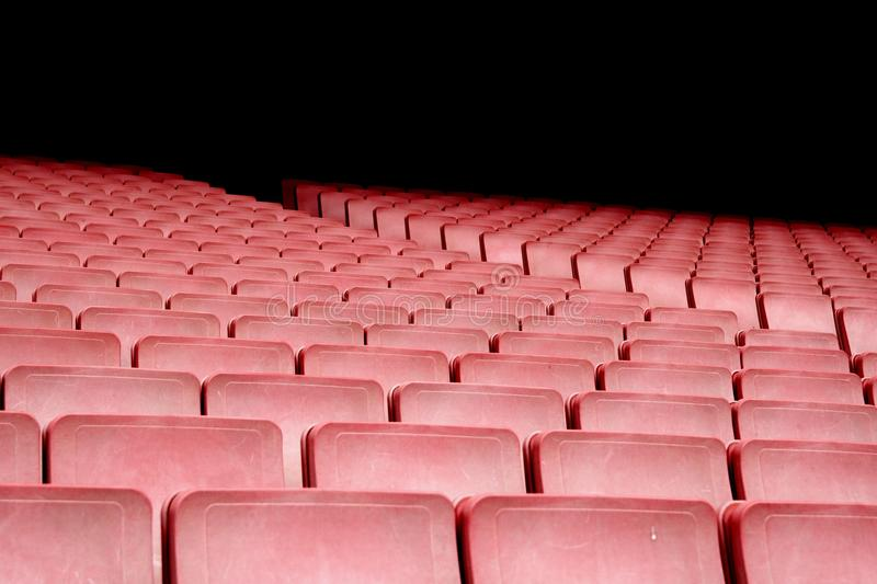 Audience, Auditorium, Bleachers, Chairs stock image