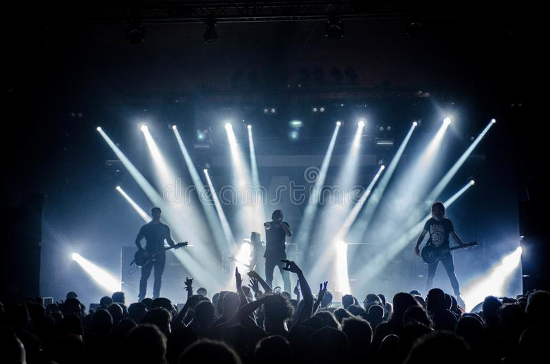 Audience, Band, Concert, Crowd royalty free stock image