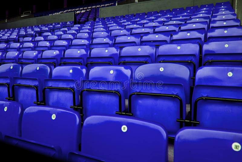 Download Audience chairs blue stock image. Image of sport, chair - 10860053