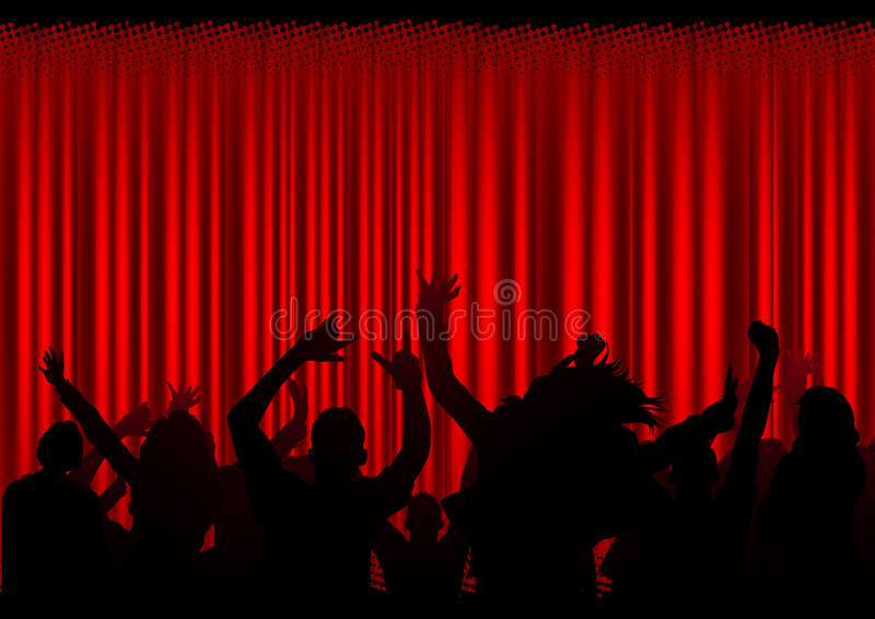 Audience at a Concert vector illustration