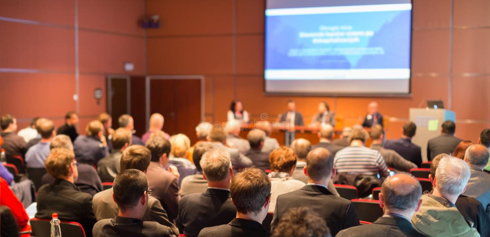Audience at the conference hall. royalty free stock photography