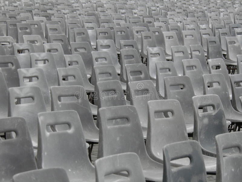 Audience Empty Seats Royalty Free Stock Photography
