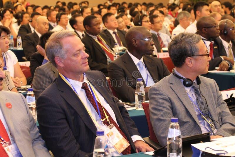 Audience of International seminar royalty free stock images
