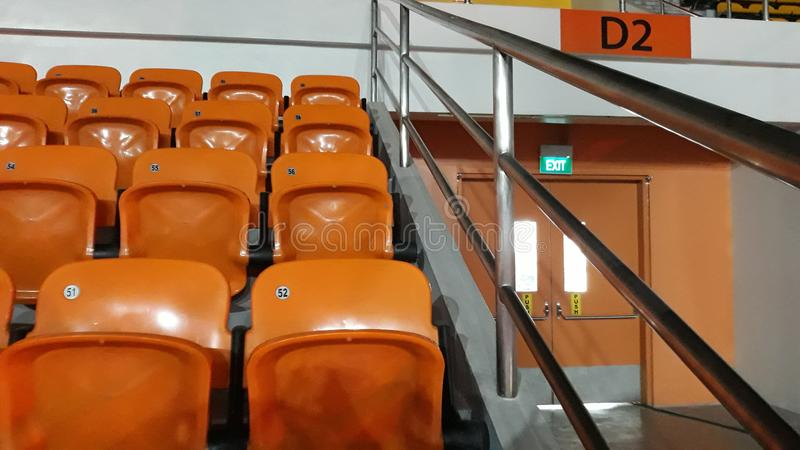 Audience Orange royalty free stock images