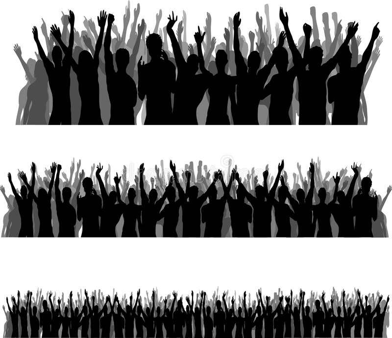 Audience Silhouettes royalty free stock images