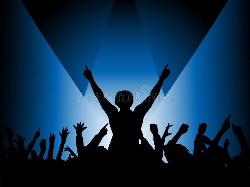 Download Audience in spotlight stock vector. Image of youth, woman - 2479045