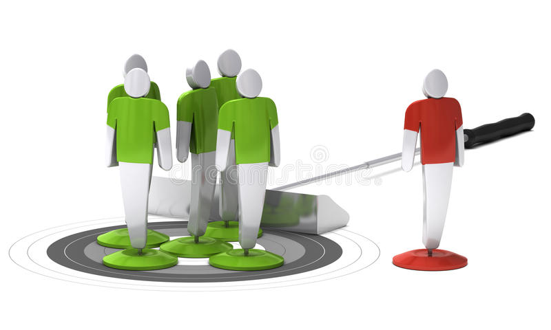 Download Audience strategy stock illustration. Image of allocate - 25078529