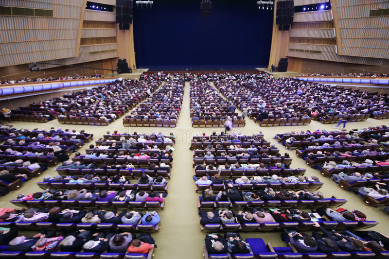 Audiences Sit In Hall Before Anniversary Concert E.Piecha Editorial Stock Photo