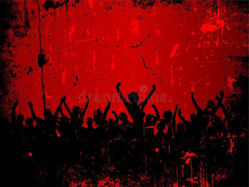 Audiencia de Grunge ilustración del vector