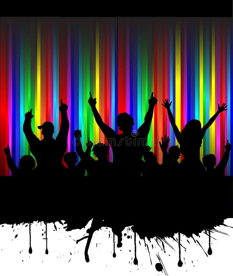 Audiencia de Grunge stock de ilustración