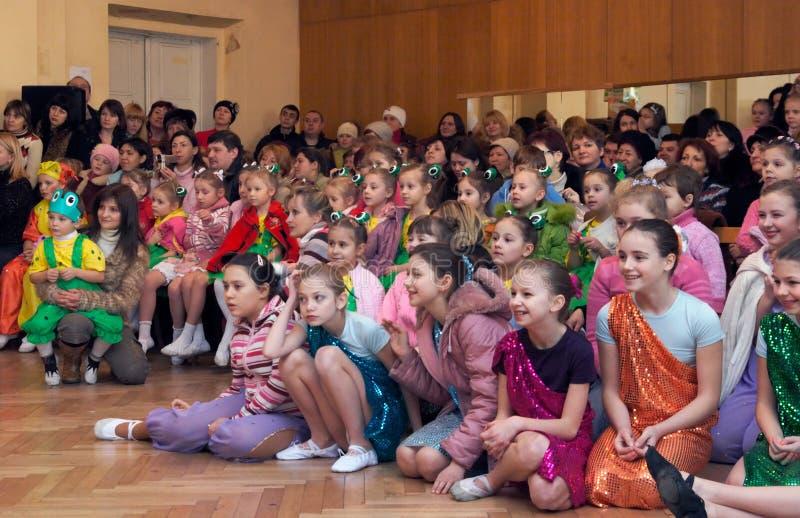Audiencia de los niños imagen de archivo