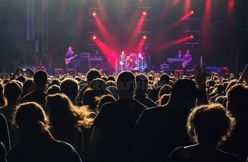 Audiencia del concierto fotografía de archivo