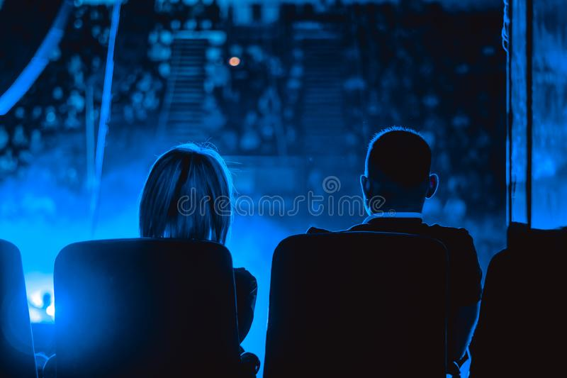 Audiencia en el concierto fotografía de archivo