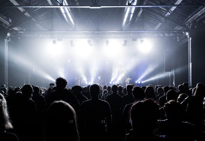 Audiencia en el concierto de la música en directo fotografía de archivo libre de regalías