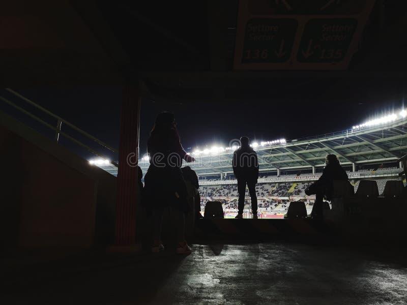 Audiencia en el partido de fútbol fotos de archivo libres de regalías