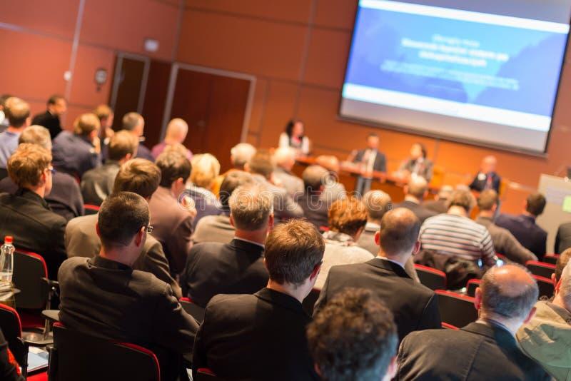 Audiencia en la sala de conferencias fotografía de archivo