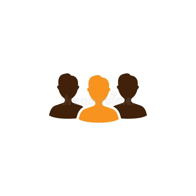 Audiencia, icono de la muchedumbre Elemento del icono de la optimización de la web para los apps móviles del concepto y de la web ilustración del vector