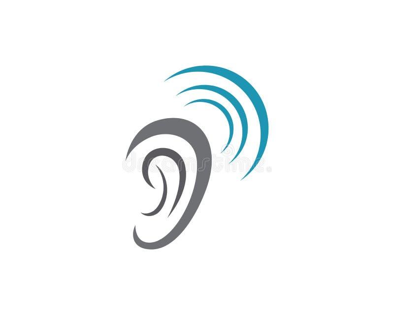 Audiencia Logo Template stock de ilustración