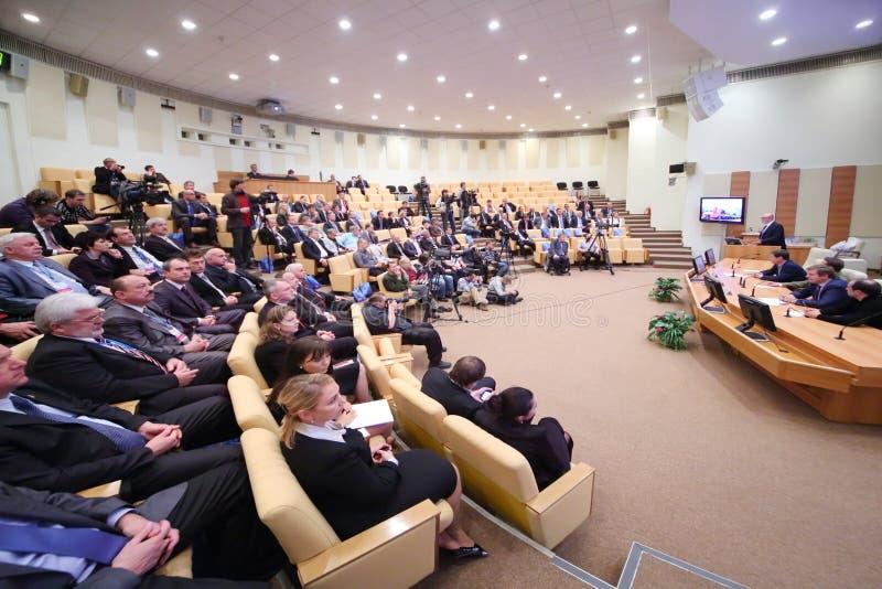 Audiencia y participante de la conferencia fotografía de archivo