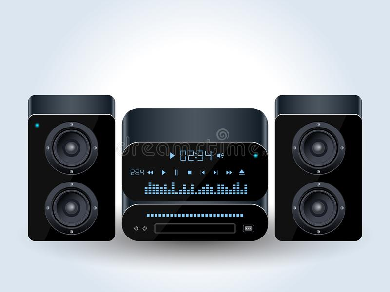 Home audio system realistic vector illustration vector illustration