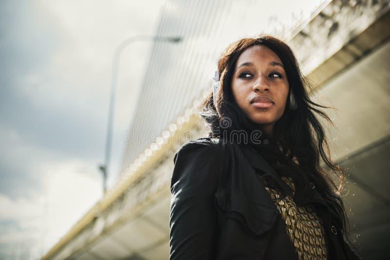 Audio Afrikaans Afdalingsmuziek het Luisteren Hoofdtelefoonconcept royalty-vrije stock afbeelding
