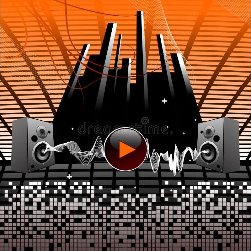 Audio altoparlanti illustrazione di stock