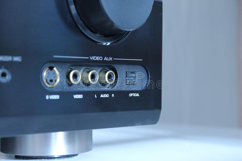 Audio amplifier inputs royalty free stock image
