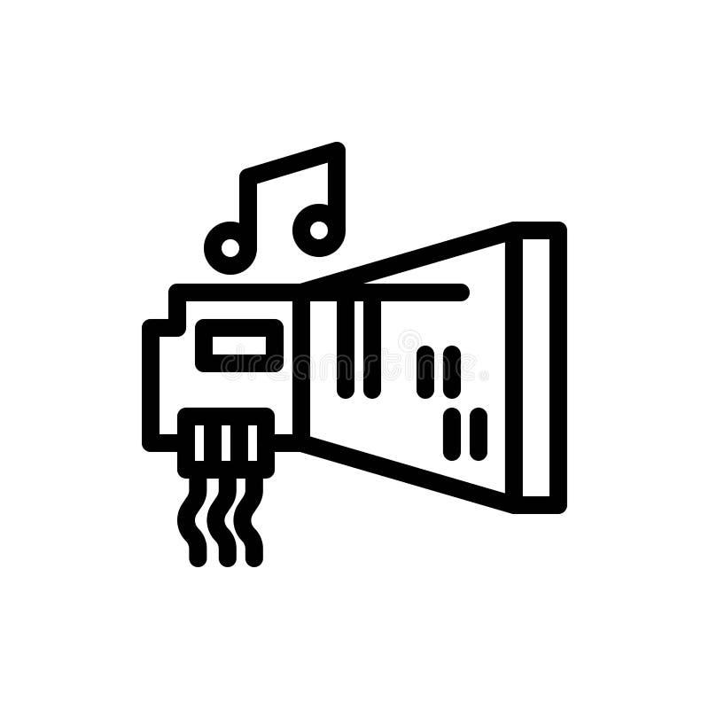 Audio, arenador, dispositivo, hardware, azul de la música y transferencia directa roja y ahora comprar la plantilla de la tarjeta stock de ilustración