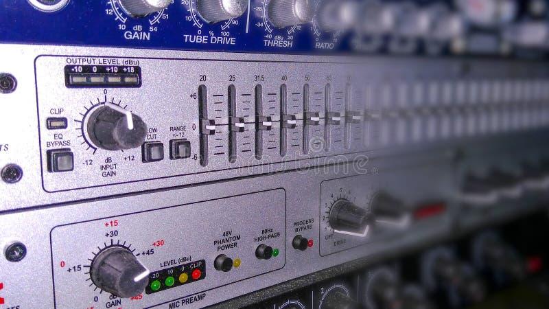 Audio attrezzatura per le audio registrazioni fotografia stock libera da diritti